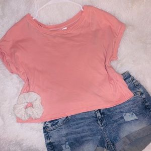 H&M Pink Basic Crop Top